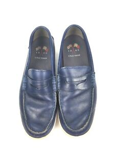 a9bc646c1ca Cole Haan Mens Size 10 M Pinch Weekender Blue Leather Penny Loafers ...