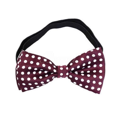 Burgundy Polka Dots Suspender and Bow Tie Set for Baby Toddler Kids Girls USA