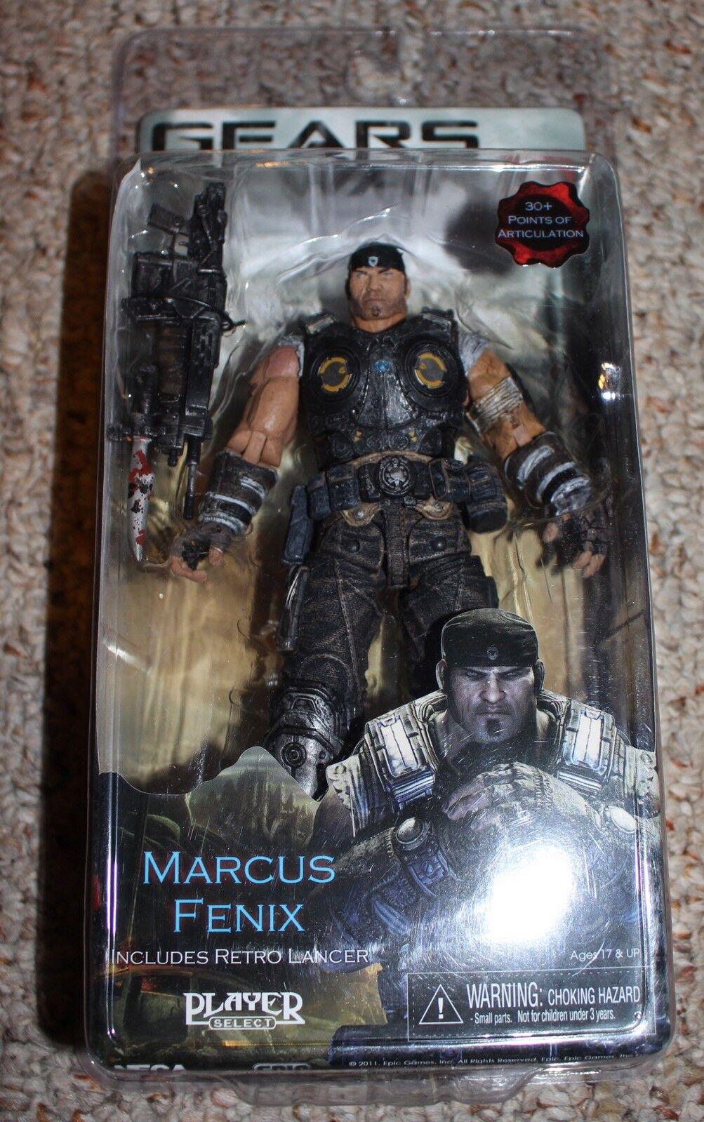 Gears Of War 3 Marcus Marcus Marcus Fenix Includes Retro Lancer Player Select Figure NEW 3de8dc