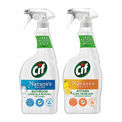 Cif Nature's Recipe Bathroom Or Kitchen Spray, 750ml