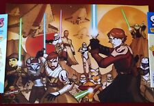 Star Wars: Tales From The Clone Wars - CV Heroes Poster - Art By Tom Hodges