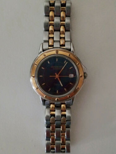 Vintage Pour Homme Raymond Weil Tango Swiss Sapphire Crystal Visage Acier Inoxydable Watc