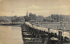 Vintage-1907-Postcard-Arnhem-Schipbrug-Ship-Bridge-Holland-Netherlands-51R