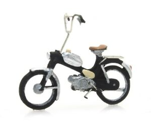 Artitec-387-267-Moped-Puch-schwarz-H0-1-87-Fertigmodell-Handbemalt-Motorfahrrad