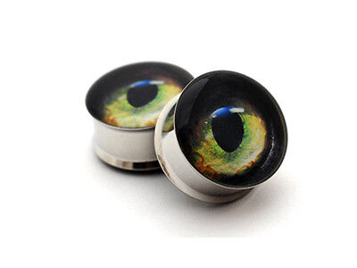 Pair of Cat Eye Plugs gauges Choose Size new