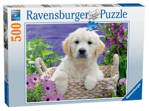 14829 Ravensburger Sweet Golden Retriever Jigsaw Puzzle 500 Pieces age 10 ans