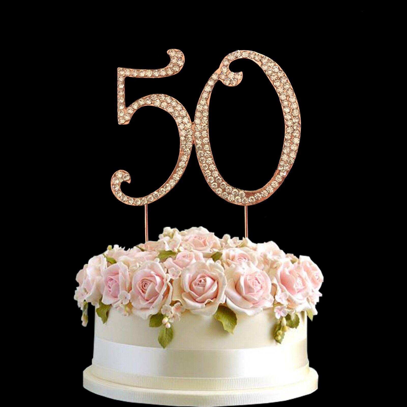 Rhinestone Sweet 16 16th Birthday Anniversary Cake Topper Pink with Diamante