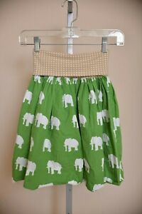Persnickety-Clothing-Boutique-Skirt-Green-Elephants-Ruched-Waist-Women-039-s-XS-0-2