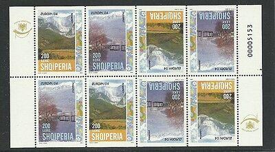 Europa Cept 2004/ Albanien Minr 2966/67 D ** Im Heftchenblatt 8 Direktverkaufspreis Briefmarken