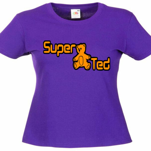Super Ted señoras Lady Fit T Shirt 13 Colores Talla 6-16