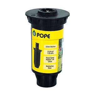 Pope MASTER POP-UP SPRINKLER 50mm 2Pcs *Aust Brand- 1/4, 1/2, 3/4 Or Full Circle