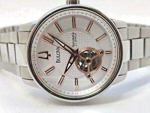 Bulova-Mechanicals-Automatic-96A143-Men-039-s-Watch-53C