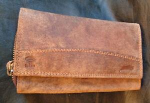 2d2a6d4301ccd Herren Leder Geldbörse groß Braun mit Kette 45 cm Rockabilly Biker ...