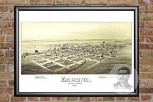 Vintage-Edmond-OK-Map-1891-Historic-Oklahoma-Art-Old-Victorian-Industrial