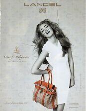 Publicité Advertising 2012  LANCEL créé par DALI sac à main collection mode
