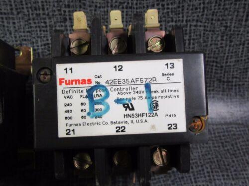 FURNAS CONTACTOR 42EE35AF572R 60 AMP 600V 3 PHASE 110-120V COIL HN53HF122A 1