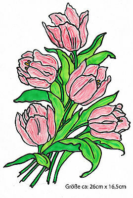Fenstersticker Fensterfolie 352 Fensterbild Window Color Bild Tulpen Frühling