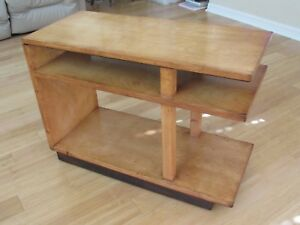 Image Is Loading Eliel Saarinen Side End Table 3 Tier Blonde