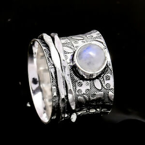 Rainbow-Moonstone-925-Sterling-Silver-Meditation-Statement-Ring-Spinner-Ring-s25