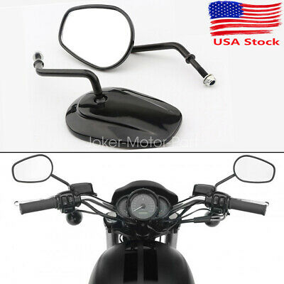 Motorcycle Black Rear View Mirrors For Harley Davidson Street Glide FLHX Touring