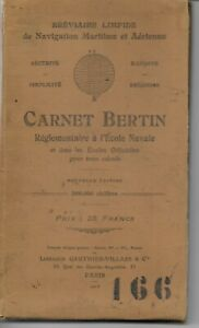 CARNET-BERTIN-REGLEMENTAIRE-A-L-ECOLE-NAVALE-1928