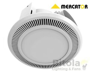 Mercator Ultraline 12w Led Light Round Bathroom Exhaust