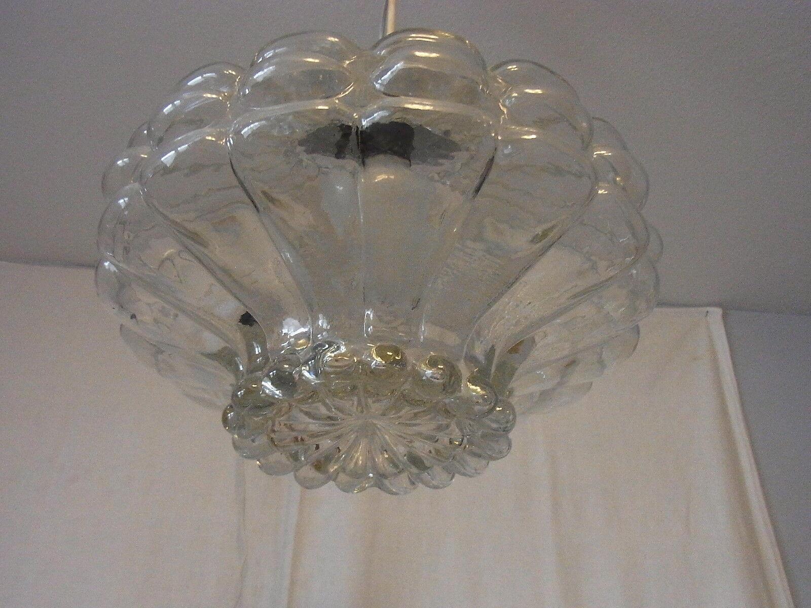 Mid Century Bubble Glass  Decken Lampe Ceiling Lamp ø 30 cm.