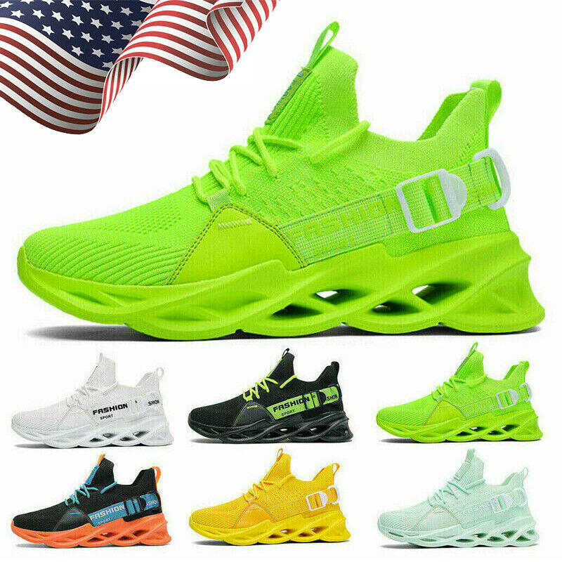 Men's Sneakers Lace Up Casual Running Shoes Sports Tennis Jogging Athletic Gym