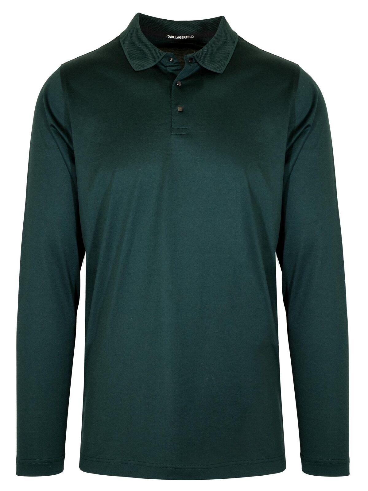 Lagerfeld Grün Contrast Collar Polo Shirt
