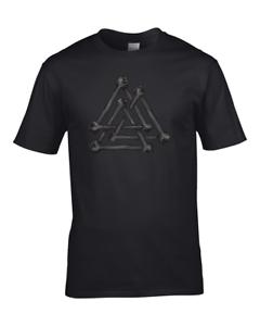 Valknut Annodato Ossa Simbolo del Dio Norreno Odino-Gioventù Ragazzo T-shirt