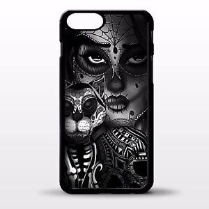 Details About Sugar Skull Cat Tattoo Girl Gothic Cross Art Day Of The Dead Phone Case Cover