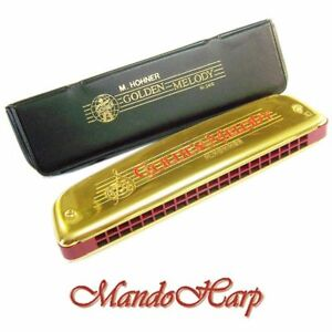 Hohner-Tremolo-Harmonica-2416-40-C-Golden-Melody-Tremolo-40-Reeds-NEW