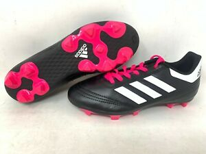 NEW-Adidas-Youth-Girl-039-s-Goletto-VI-FG-Soccer-Cleats-Hot-Pink-Black-White-A17-18