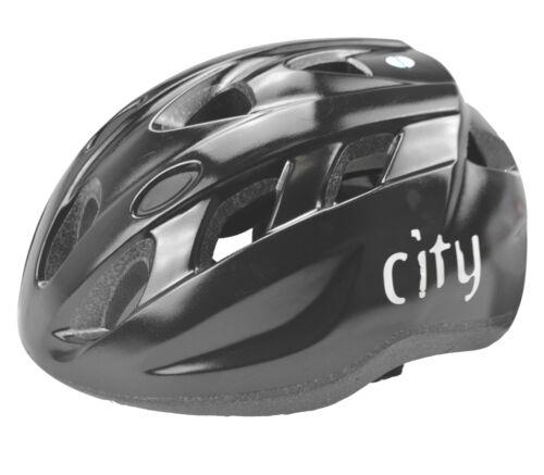 58-62cm ohne Visier Helm Radhelm Fischer Fahrradhelm City Black Größe L//XL