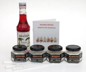 sphärisierungs set mit gluco, algin calci, citras für die