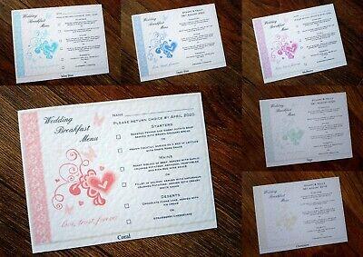 Bello A6 Menu Personalizzato Matrimonio Colazione Inserti * 7 Colori *-mostra Il Titolo Originale Beneficiale Per Lo Sperma