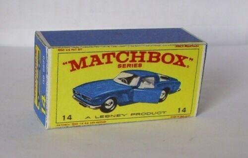 Repro box MATCHBOX 1:75 Nº 14 ISO GRIFO bleu foncé