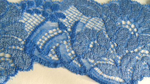 1 Meter SPITZE elastische ZUM AUFNÄHEN Meterware Spitzenborte 193-170 Blau