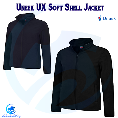 UNEEK Premium Unisex Full Zip Wind Proof Soft Shell Mens Womens Polyester Jacket