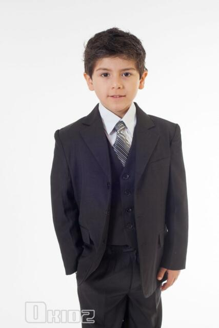 BNWT 5PCS BOYS CHRISTENING FORMAL WEDDING SUIT Sz 00-17
