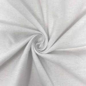 100-Cotton-Flannel-Solid-White-Fabric-Sold-By-The-Yard