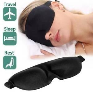 3D Eye Masks Travel Beauty Sleep Bedtime Sponge Cover Blindfold Relax Dark Masks