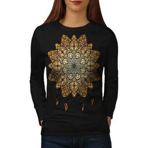 Wellcoda-mandala-yoga-femme-t-shirt-a-manches-longues-spirituel-Casual-Design