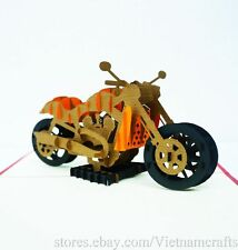 3D Harley Davidson Pop up Greeting Card, Kirigami Popup Card, Pop up Cards!