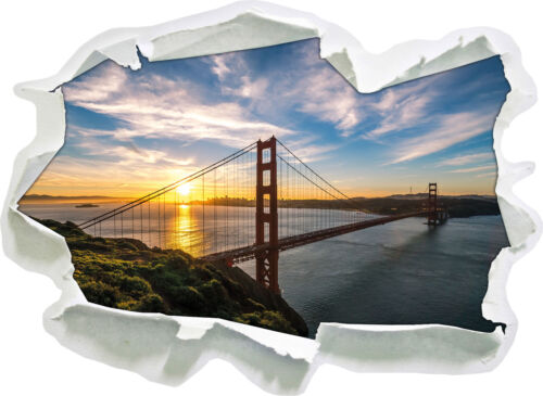 3d look papel murales pegatinas-sticker Puente Golden Gate san francisco