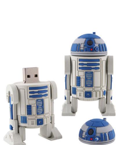 R2D2 8GB USB FLASH DRIVE STAR WARS//THE FORCE AWAKENS//ROBOT// MEMORY STICK// SCI-FI