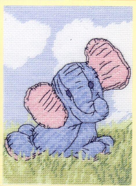"Little Suzy/'s Zoo Elephant Cross Stitch Kit 5/"" x 7/"" DMC Ellefunt"