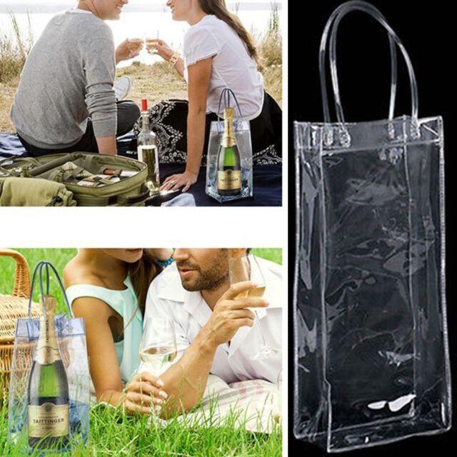 Wine Beer Champagne Bucket Drink Ice Bags Bottle Foldable Carrier Cooler Chiller