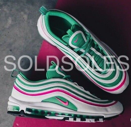 Nike Air Max 97 Miami South Beach Watermelon Green   Pink  GS Junior