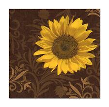 4 Motivservietten Servietten Napkins Tovaglioli Blume Sonnenblume (404)